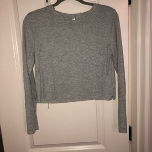 Grey cropped long sleeve